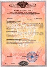 Свидетельство о регистрации права (земельный участок)